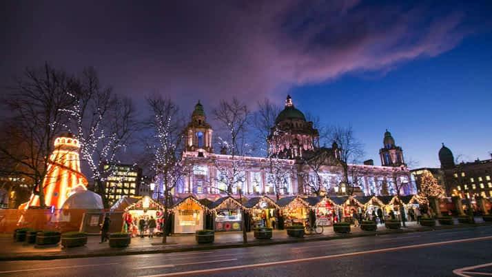 Mercadillo navidad Belfast Irlanda