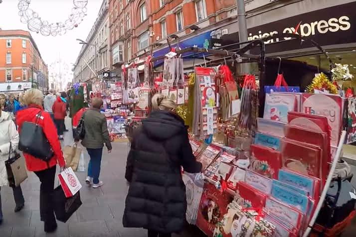 Mercadillo de Navidad Henry Street Dublin