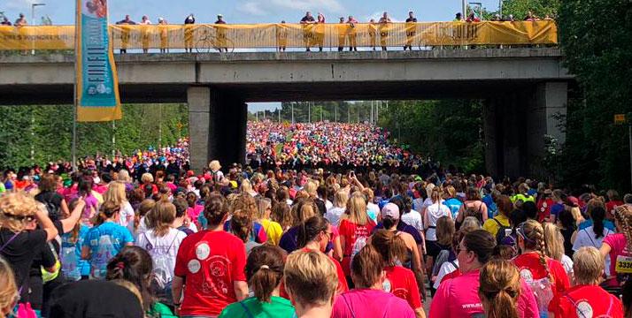 Women's Mini Marathon Dublín público