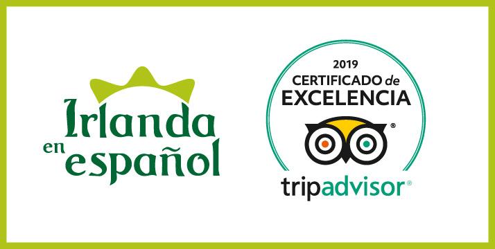 Conseguido Certificado excelencia Tripadvisor Irlanda